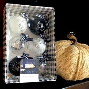 Rae Dunn Halloween Glass Ornaments (6 in package)